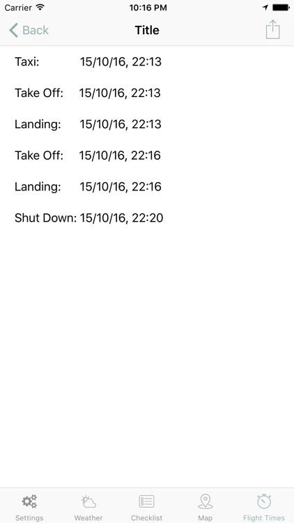 in Flight. Pilot's checklist, weather, flightTimer screenshot-4