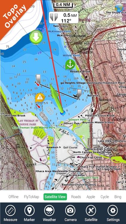 Lake Tahoe California HD GPS fishing chart offline