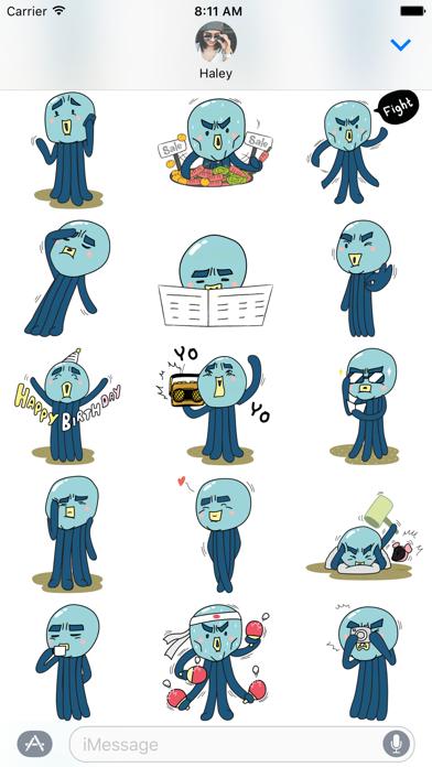 Screen Shot Cranky Octo - Octopus Stickers 3