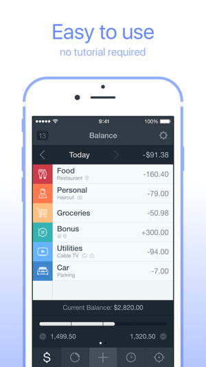 ‎Saver – Personal Finance, Income & Expense tracker Screenshot