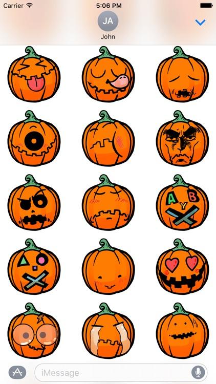 Funny Halloween Pumpkin Sticker screenshot-3