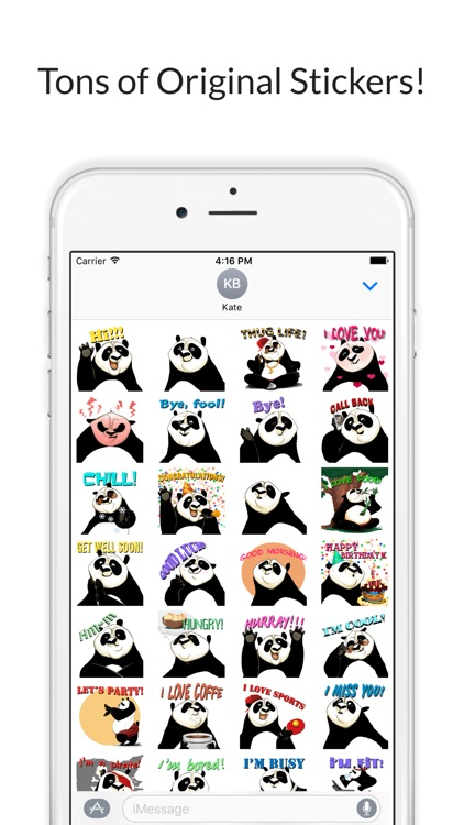 Sassy Panda - Funny Stickers