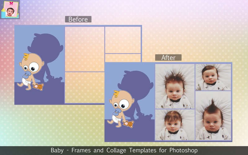 Baby - Frames and Collage Templates for Photoshop for Mac