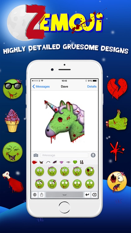 Zemoji Zombie Emoji - Halloween iMessage Stickers screenshot-2
