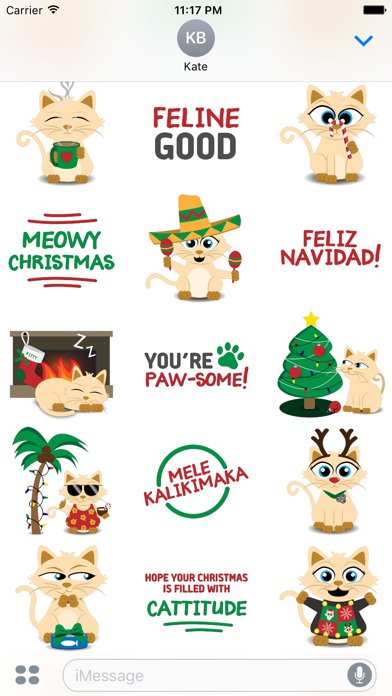 Christmas Kitties Sticker Pack screenshot two