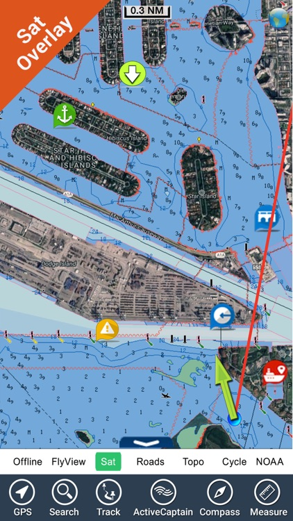 Boating USA GPS map nautical offline fishing chart
