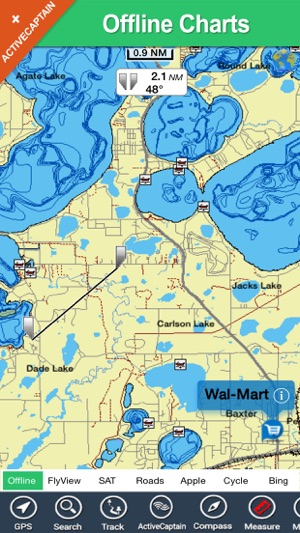‎Lake Minnetonka HD GPS maps offline charts on
