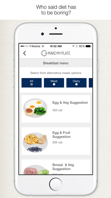 MakeMyPlate - Weight loss & healthy diet meal plan screenshot-3