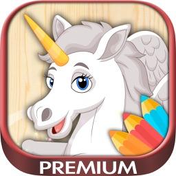 Unicorn & pegasus coloring pages – Premium