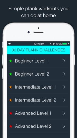 30 Day Plank Challenge Im App Store