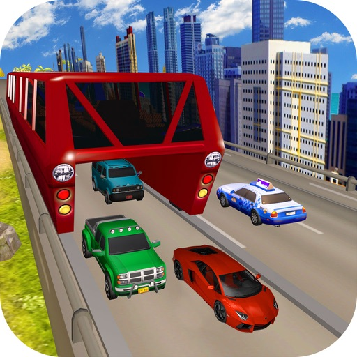 Vr City Elevated Bus : Gyro-scope Bu-s Par-king