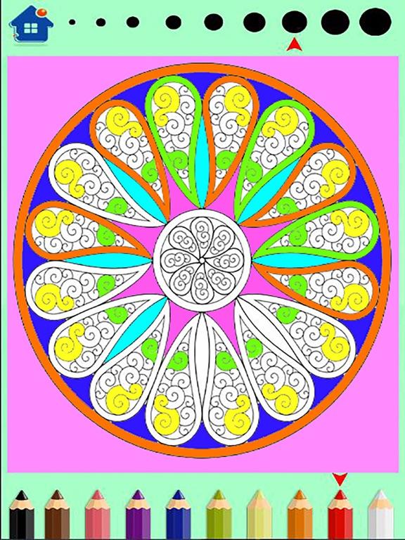 Screenshot 1 For Mandala Coloring Book Painting