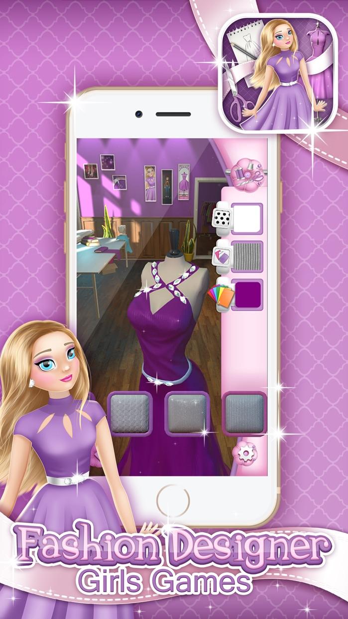 Fashion Designer Girls Game: Make Your Own Clothes Screenshot