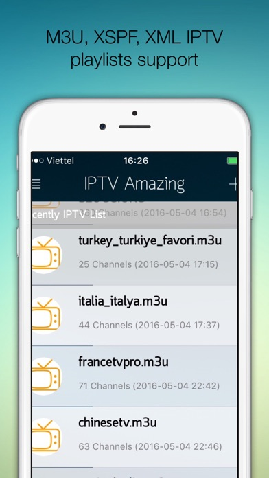 IPTV Pro:(Amazing) Support M3U XSPF XML JSON - by Quyet Vu
