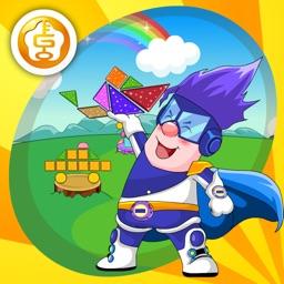 呆呆超人- Tangram(for the kids- puzzle)-黄金教育