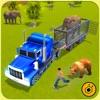 Zoo Animals Transporter Truck parking Simulator 3D