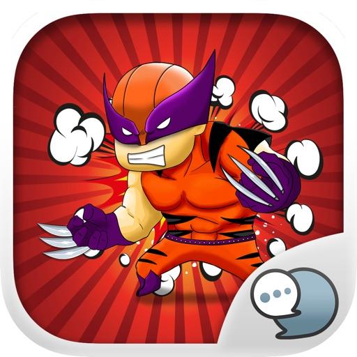 Superhero Emoji Chibi Stickers Keyboard ChatStick