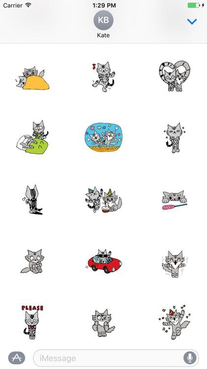 Shiloh Cat emoticon stickers