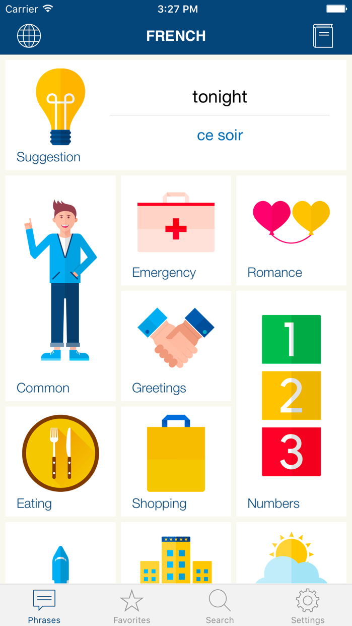 Learn French Phrases & Words Screenshot