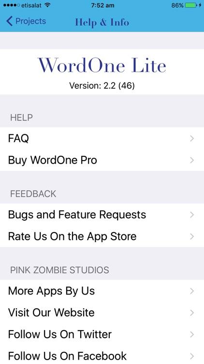 WordOne Lite screenshot-4