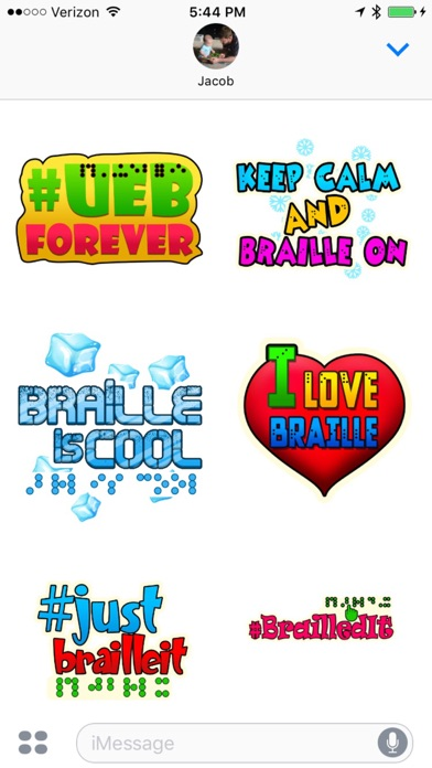 Braille Stickers - by Hillary Kleck - Category - AppGrooves: Discover Best  iPhone & Android Apps & Games