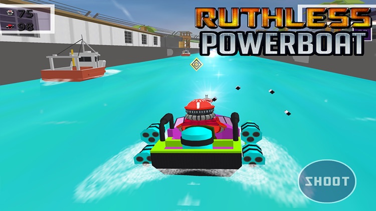 Ruthless Power Boat - 3D Shooting & Racing Game screenshot-3