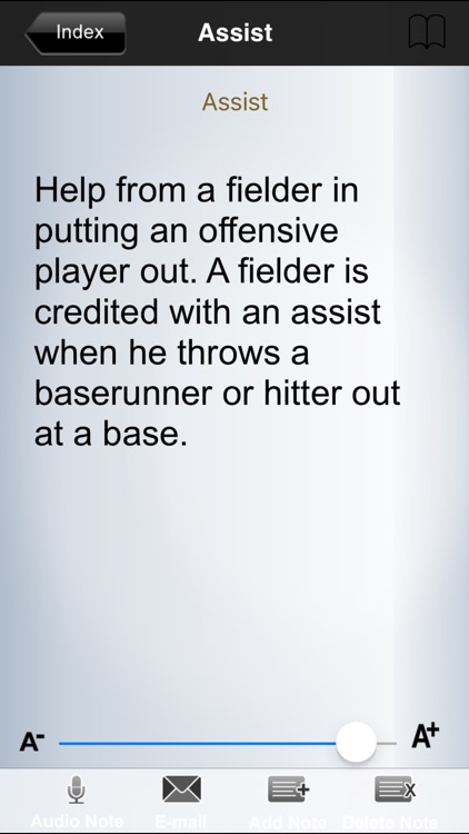 Baseball-Glossary screenshot-2