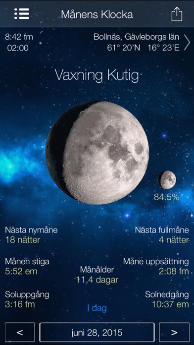 Månens Klocka månfas kalender på PC