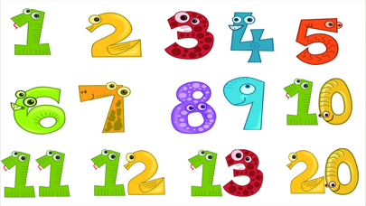 1 2 3 Words Baby Learn English Numbers Flash Cards screenshot one