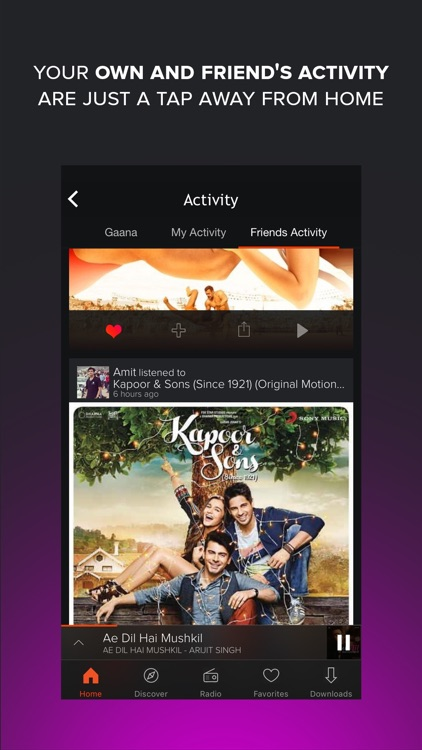 Gaana - Hindi, English and Regional Songs & Radio screenshot-1