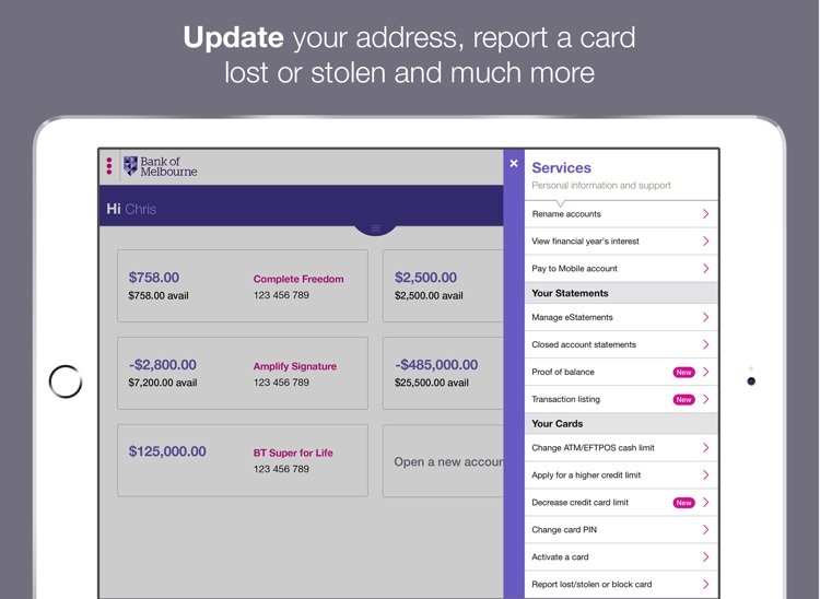 Bank of Melbourne iPad Banking screenshot-3