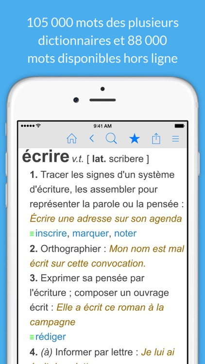 Dictionnaire Français et Synonymes screenshot-0