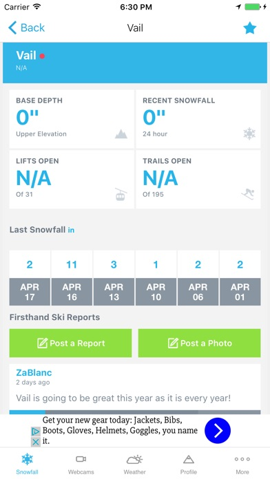 Ski & Snow Report screenshot two
