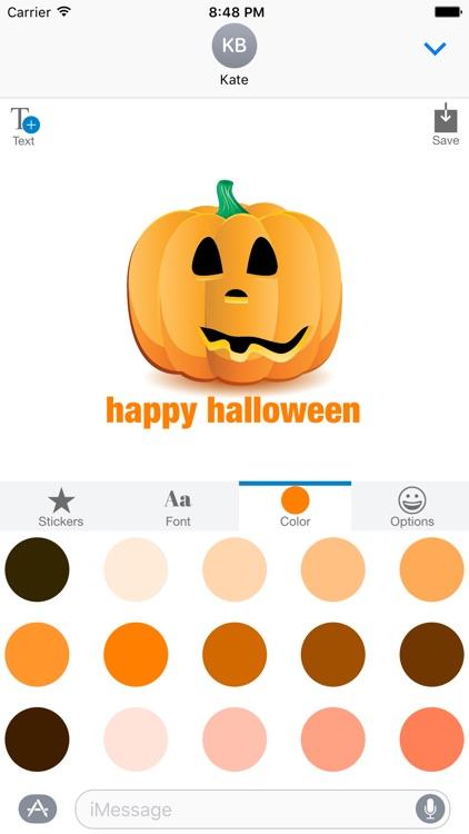 Halloween Pumpkin Jack O Lantern - Sticker Maker screenshot-4