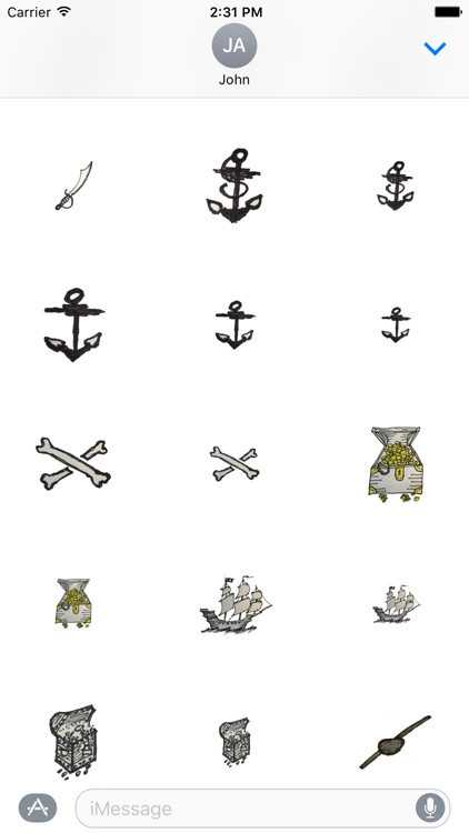 Nautical Pirate Stickers