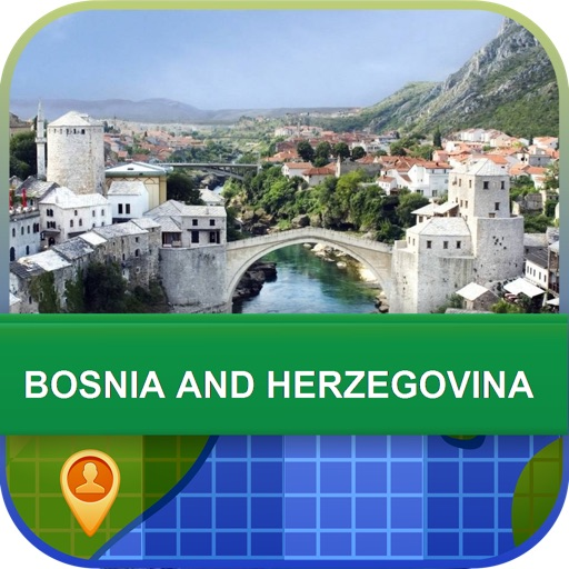 Bosnia and Herzegovina Map - World Offline Maps