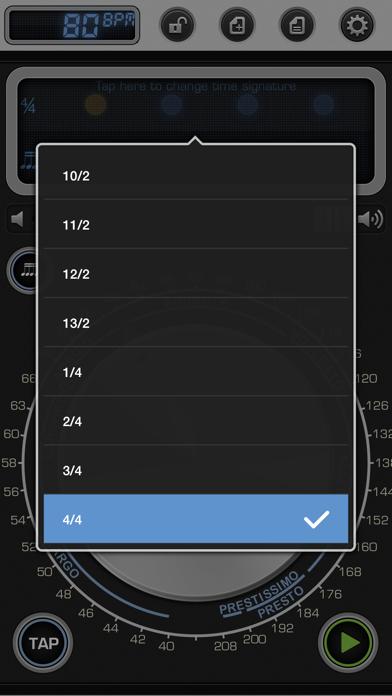 Screenshot #3 pour Metronome 9 - Tempo & Setlists