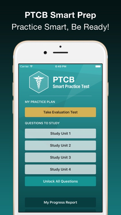 PTCB Smart Test Prep PLUS - PTCE Pharmacy Exam screenshot-0