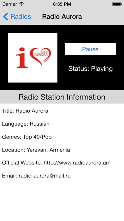 Armenia Radio Live Player (Armenian) screenshot-4