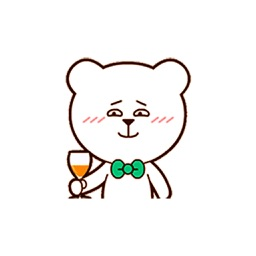 White Bear - Animated Bear Stickers And Emoticons
