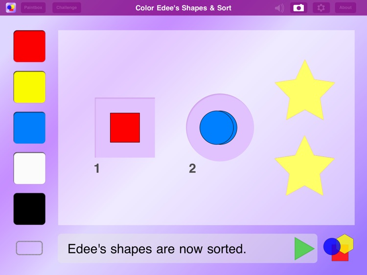 Color My Shapes & Sort
