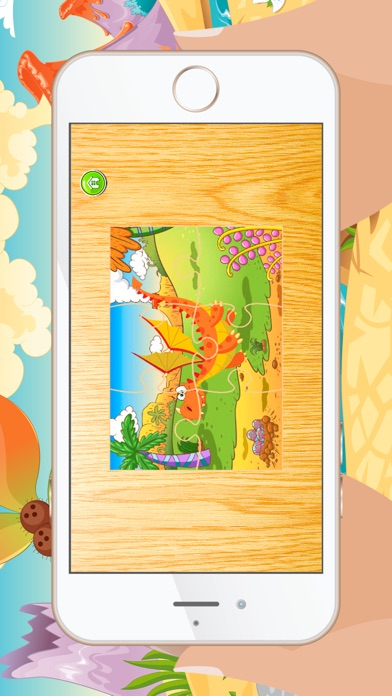 Cartoon Dragon Jigsaw Puzzles for Kids - Kindergarten Learning Games Free Screenshot on iOS