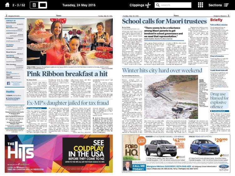 Wanganui Chronicle e-Edition