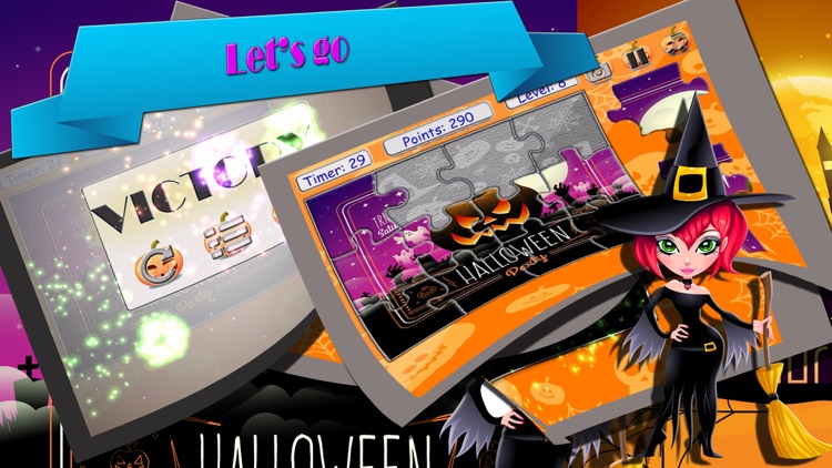 play easy solve jigsaw puzzle at halloween game screenshot-3