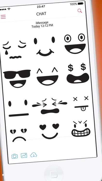Elegant Vector Smileys Stickers
