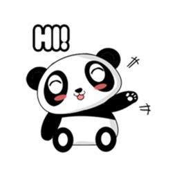 Lovely Panda Sticker