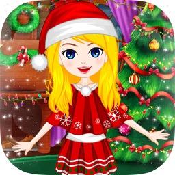 Christmas Makeup, Dressup Girl Game