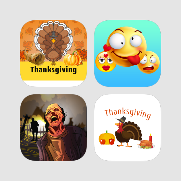 Best Stickers App - Thanksgiving, animated emojis, zombies and monster  stickers