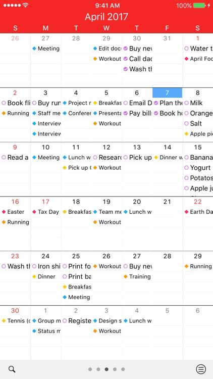 Week Agenda + Todo List | WeekUp Calendar
