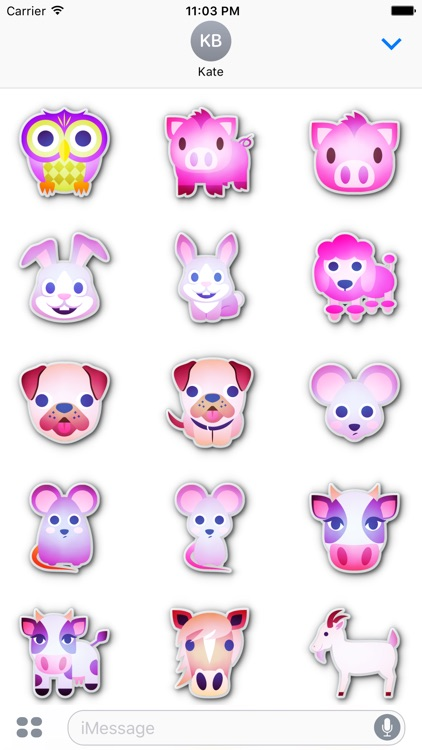 Animals emoticons • Stickers for iMessage